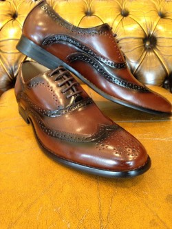 Leather upper Brown brogue