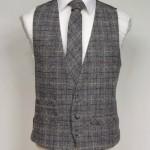 Grey and Burgundy Harris Tweed