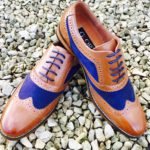 Brownblue-brogues