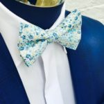 Liberty-Print-Blue-Daisy-Floral-Bow-Tie-and-Handkerchief