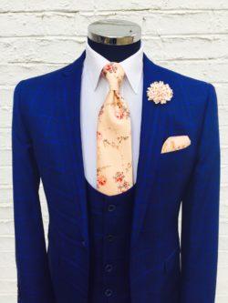 Royal-Blue-3-Piece-Check-Suit