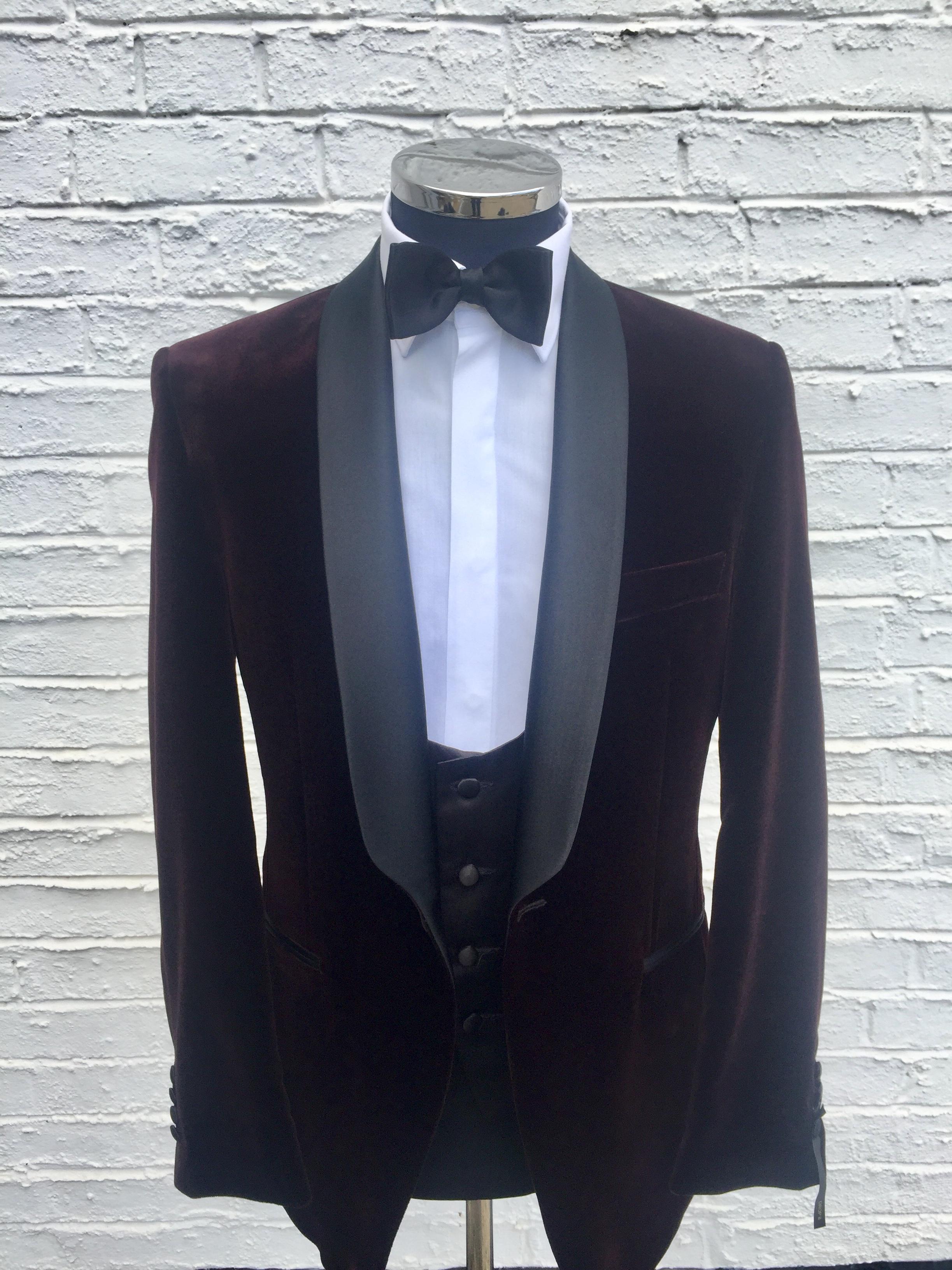 red velvet tuxedo